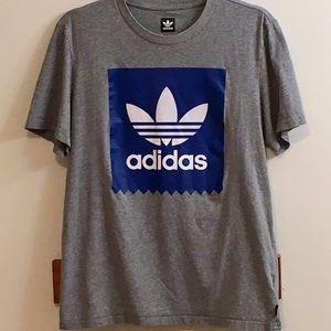 Adidas Women's Sz Medium Gray and Blue Shirt